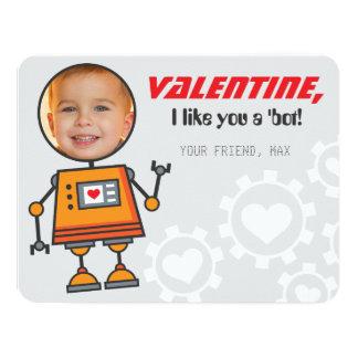 Photo Valentine's Day Card | Robot Theme