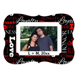 Photo Valentine's Day Word Collage Personalised 13 Cm X 18 Cm Invitation Card