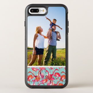 Photo Watercolor Flamingos Gathered OtterBox Symmetry iPhone 7 Plus Case