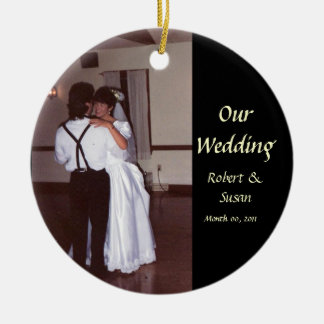 Photo Wedding Favor Keepsake Christmas Ornament