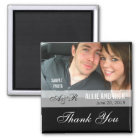 Photo Wedding Favour Magnets Black