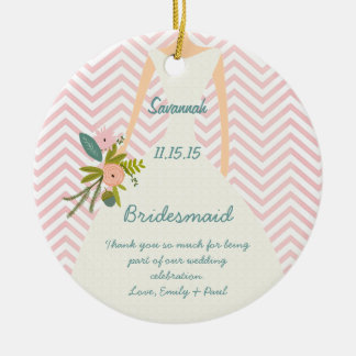 Photo Wedding Gown Bridesmaid Keepsake Gift Christmas Ornament