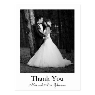 Photo Wedding Thank You Postcard