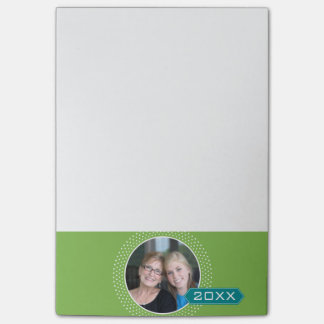 Photo with Lime Polka Dot Frame and Custom Year Post-it Notes
