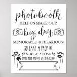 Photobooth Hashtag Wedding Party Sign 8x10