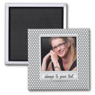 photoframe on white & grey polkadot magnet