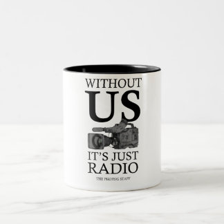 Photog Mug, for videographers, tv news, video Two-Tone Mug