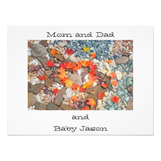 Photograhy art prints Mom Dad and Baby Name Heart Art Photo