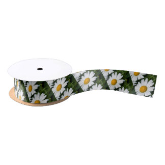 photograph a margueritte, drop of water, make satin ribbon