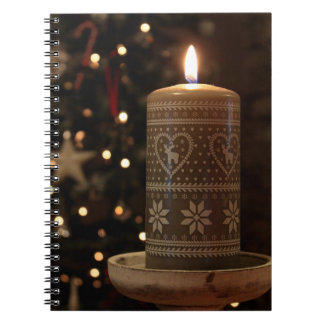 Photograph Christmas candle note book
