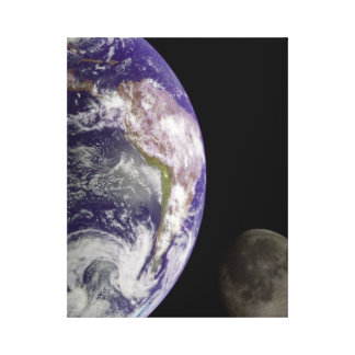 Photograph Earth and moon