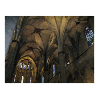 Photograph: Interior of Barcelona Cathedral Poster