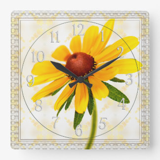 Photograph of A Black-Eyed Susan Blossom Wall Clock