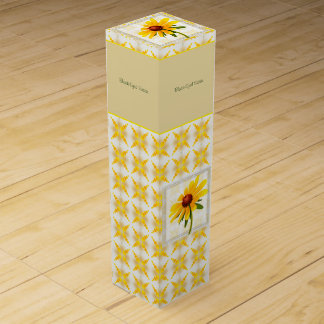 Photograph of A Black-Eyed Susan Blossom Wine Gift Boxes