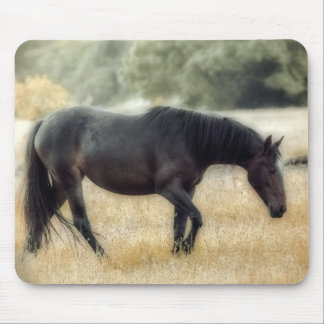 Photograph of a horse with soft focus mouse mat