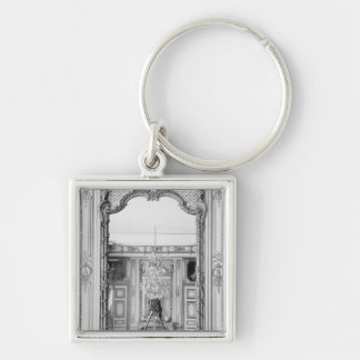 Photograph of a mirror at  Chateau de Versailles Silver-Colored Square Key Ring