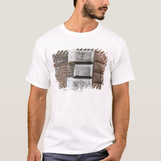 Photograph of an old brick wall in Siena Italy. T-Shirt