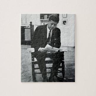 Photograph of John F. Kennedy 2 Jigsaw Puzzle