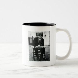 Photograph of John F. Kennedy 2 Two-Tone Coffee Mug