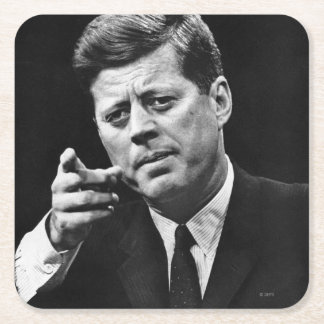Photograph of John F. Kennedy 3 Square Paper Coaster