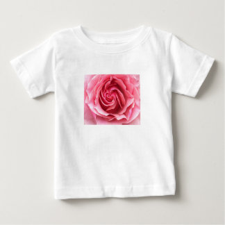 Photograph of pink rose on child's t-shirt. baby T-Shirt