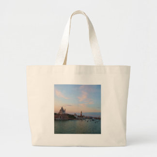 Photograph of Romantic Venice Lagoon Large Tote Bag