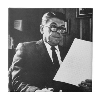 Photograph of Ronald Reagan Small Square Tile