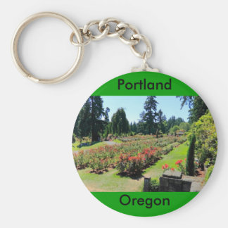 Photograph of Rose Garden, Portland, Oregon Key Ring