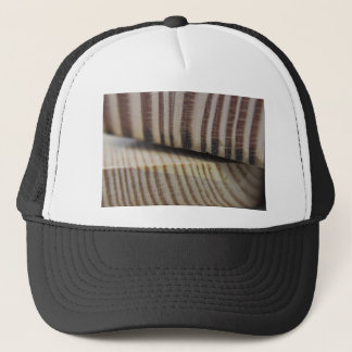 Photograph of wood trucker hat