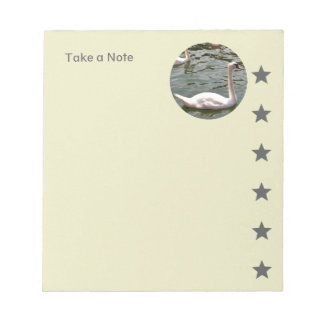 Photograph Template with Stars Green Grey Notepad