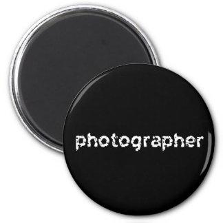 Photographer 6 Cm Round Magnet