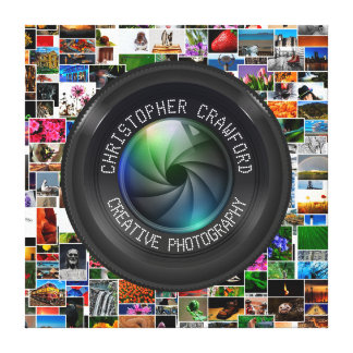 Photographer And Photography Business Camera Lens Canvas Print