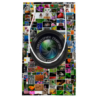 Photographer And Photography Business Camera Lens Small Gift Bag
