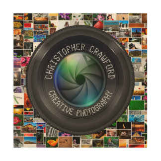 Photographer And Photography Business Camera Lens Wood Wall Decor