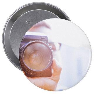 photographer 10 cm round badge