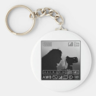 Photographer Basic Round Button Key Ring