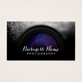 Photographer Black Camera Photography Studio Business Card