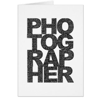 Photographer - Black Text Greeting Cards