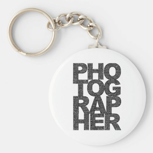Photographer - Black Text Key Chain
