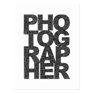 Photographer - Black Text Postcard