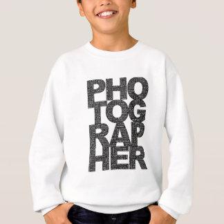 Photographer - Black Text Sweatshirt