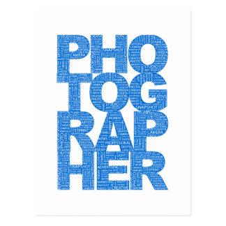 Photographer - Blue Text Postcards