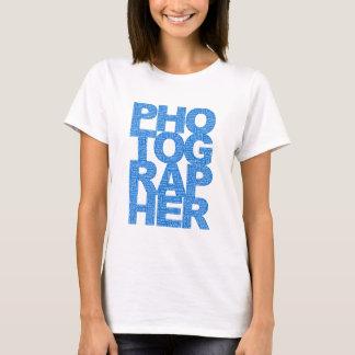 Photographer - Blue Text T-Shirt