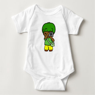 photographer boy baby bodysuit