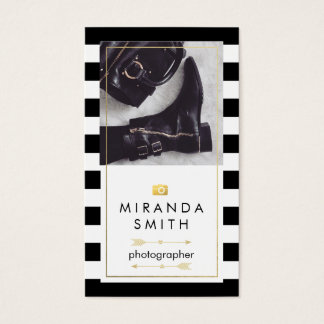 Photographer Business Card - Chic Fashion