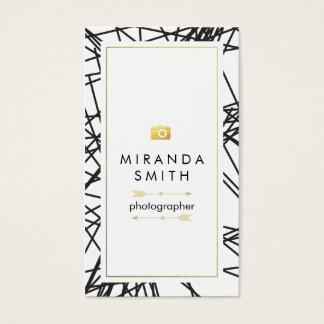 Photographer Business Card - Chic geometric