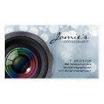 Photographer Business Card Modern Grey Lights