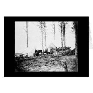 Photographer & Camera at Petersburg, VA 1865 Greeting Card