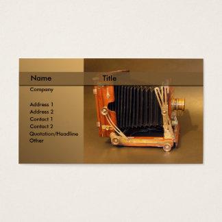 photographer / camera business card