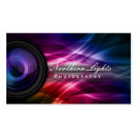 Photographer Camera Lens & Aurora Photography Pack Of Standard Business Cards